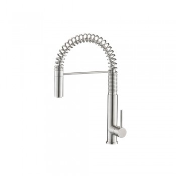 Isenberg K.1230SS Kitchen Dixie - Semi-Professional Dual Spray Stainless Steel Kitchen Faucet With Pull Out