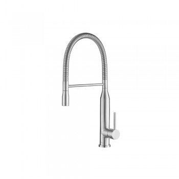 Isenberg K.1260SS Kitchen Glatt - Semi-Professional Dual Spray Stainless Steel Kitchen Faucet With Pull Out