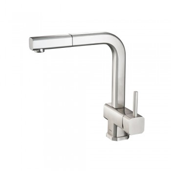 Isenberg K.1300 Kitchen Cito - Dual Spray Polished Steel Kitchen Faucet With Pull Out