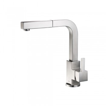 Isenberg K.1330SS Kitchen Deus - Dual Spray Stainless Steel Kitchen Faucet With Pull Out