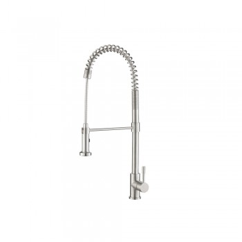 Isenberg K.2000 Kitchen Professio - S - Dual Spray Professional Stainless Steel Kitchen Faucet With Pull Out