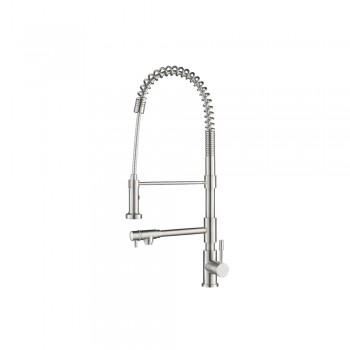 Isenberg K.2030 Kitchen Professio - F - Professional Stainless Steel Kitchen Faucet With Pull Out & Pot Filler