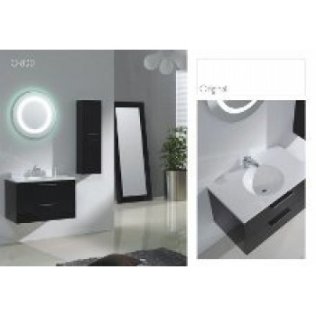 Piatti 0800 Modern Design Bathroom Vanity Single Polymarble Sink