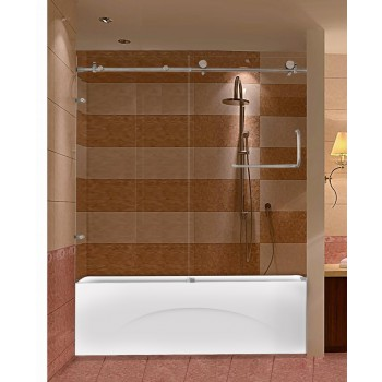 Framaless SD270B Shower Door for Bathtub with Stainless Parts