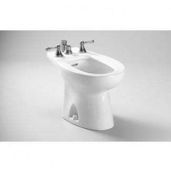 Toto BT500B Piedmont Series Vertical Spray Bidet with Four Holes for Faucet and Vacuum Breaker
