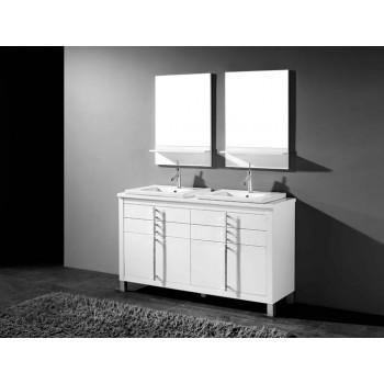 Adornus Turin 60 High Gloss White Vanity